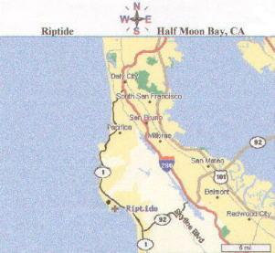 Directions - Riptide Sportfishing - salmon fishing - Half Moon Bay